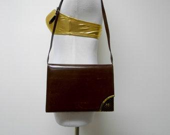 9dd8404d6f Nina Ricci . 60s 70s burgundy handbag   clutch