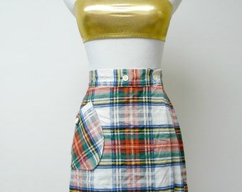 Old Salem . plaid skorts . size 12 . waist 26""