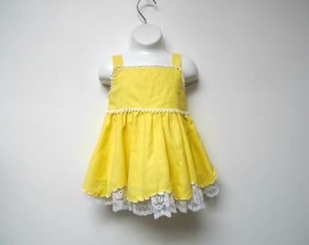 size 1  12 months Piqu\u00e9 80s 90s floral print cotton baby dress