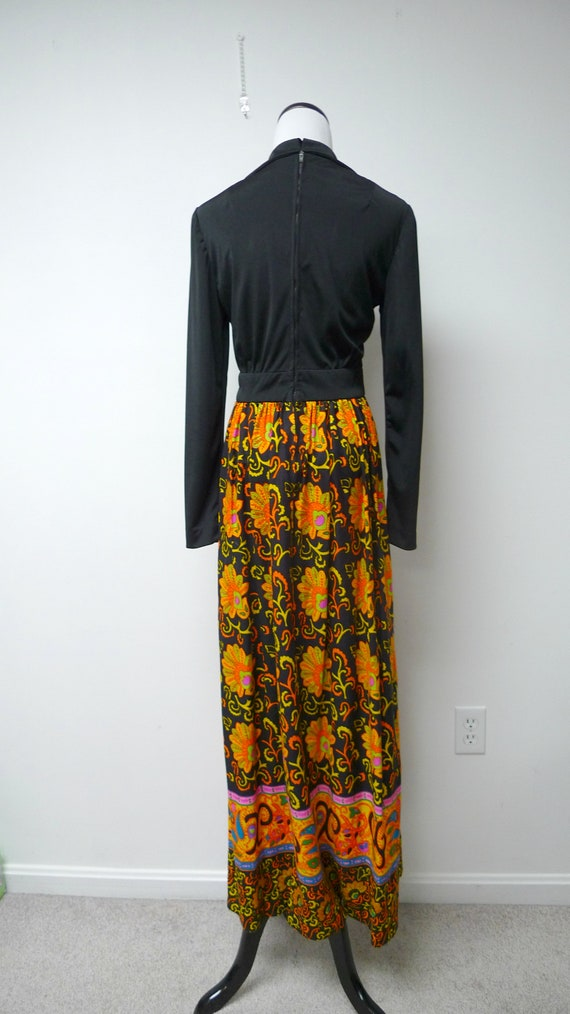 60s long sleeve maxi dress . fits a small to medi… - image 4