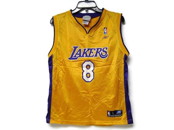 90s Y2K Reebok NBA Lakers Kobe Bryant 8 basketball jersey . | Etsy