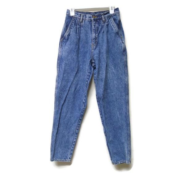 Bill Blass . 80s pleated denim jeans . size 8