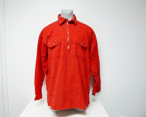 Marlboro . 90s red corduroy jacket . XL