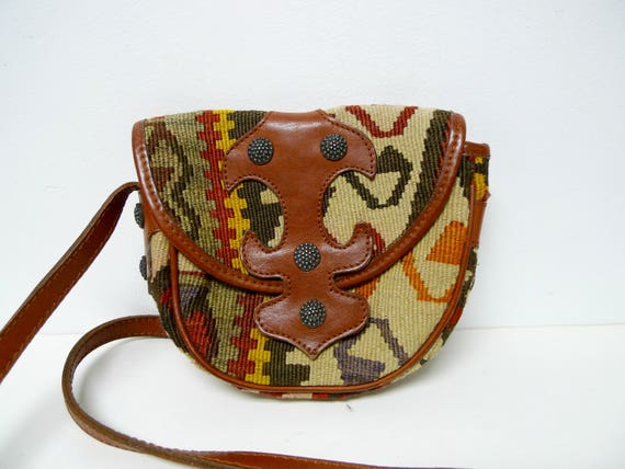Carlos Falchi woven shoulder bag