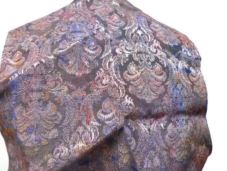 iridescent brocade vest fits medium