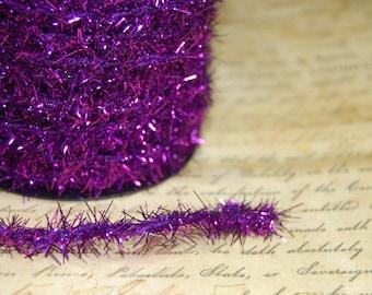Deep Violet Vintage Style Tinsel Roping Trim