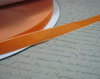 Orange Velvet  Ribbon 7/8 inch
