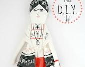 SALE  Frida Kahlo Doll D.i.Y kit