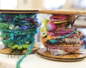 30 Minute One on One ZOOM workshop with Esther Rodgers- ArtYarn Spinning, Fiber Prep ArtBatts, Weaving- DEPOSIT