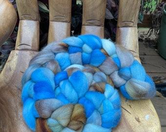 Coastal Hand Dyed Falkland Fiber top roving spinning felting