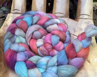 Moody Hand Dyed Falkland Fiber top roving spinning felting