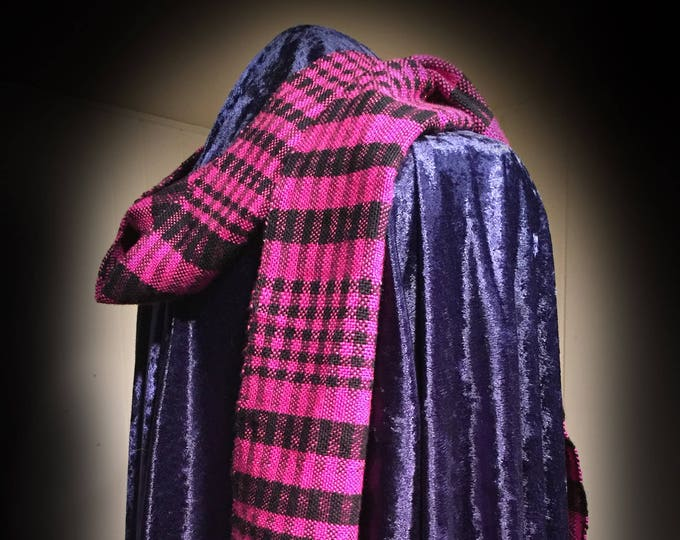 Featured listing image: Pink Scarf, woven Scarf, Handmade Scarf, Silk Ladies Scarf, Womens scarf, light scarf, For Her, Birthday Gift, Wrap, Accessory