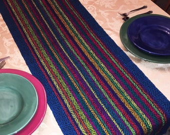 XL Festive Table Runner, Extra Wide, Holiday Runner, Buffet Table, Christmas Table, Hanukkah Table, handwoven, dinner table, table runners