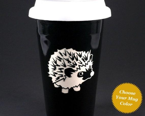 Hedgehog Travel Mug Dishwasher Safe Insulated Ceramic Travel Etsy