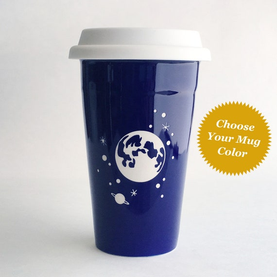 Full Moon And Stars Travel Mug Dishwasher Safe Insulated Etsy