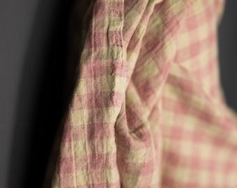 Laundered Linen / Nougat Gingham
