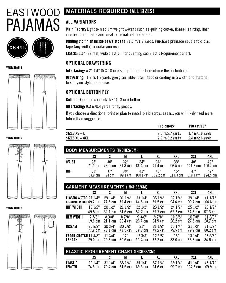 Thread Theory (CAN) / Printed Sewing Pattern / Eastwood Pajamas