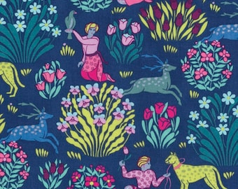 Amy Butler FABRIC - Splendor - Forest Friends in Midnight