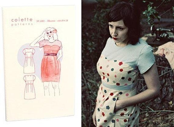 Colette Sewing PATTERN Macaron Dress