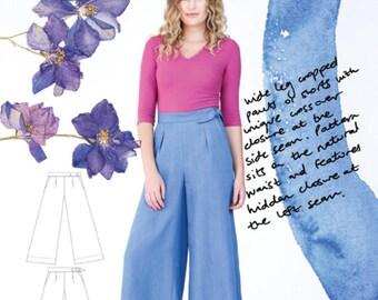 Megan Nielsen PATTERN - Flint Wideleg Pants + Shorts - Sizes XS to XL