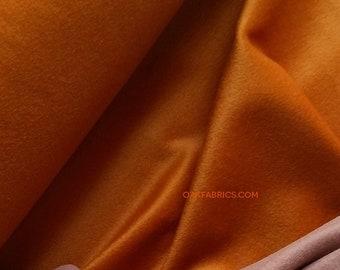Wool Velvet Coating / Carrot