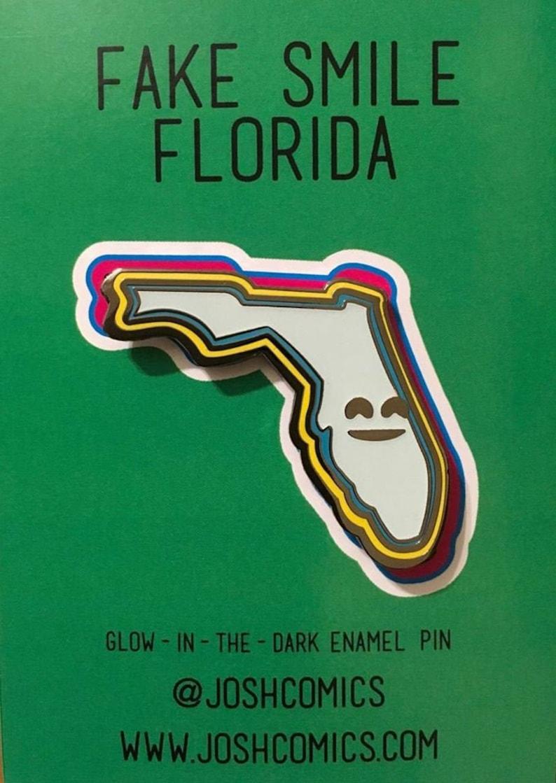 Florida Glow-in-the-Dark Hard Enamel Pin image 0