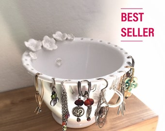 birthday gift for her, earring bowl, best selling, mothers day, bridesmaid gift, girlfriend, sister, pottery bowl, earring holder,