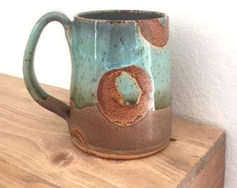 Coffee mug, birthday gift for her, handmade pottery mug, gift under 40, coffee lover, mom, sister, grandma, girlfriend, coworker, rustic