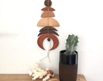 Solar/lunar talisman, stoneware, wall hanging, pottery