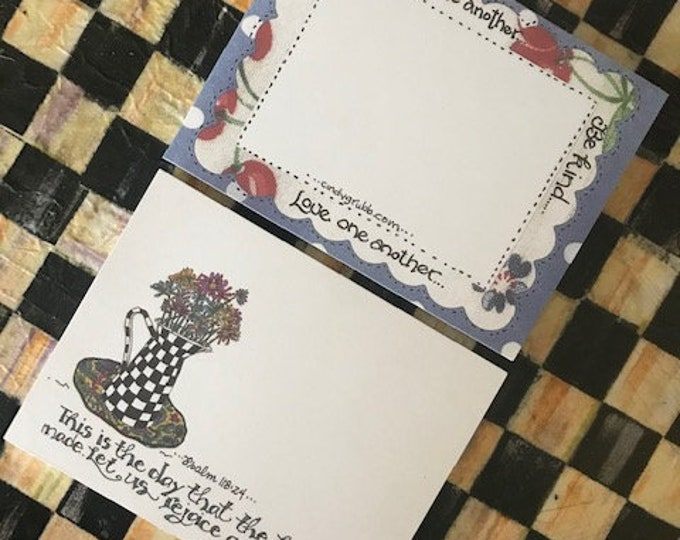 Psalm 118:24 Daisy Design or Encourage one another...Be kind...Love one another... Cindy Grubb notepad, FREE BOOKMARK! Optional Magnet