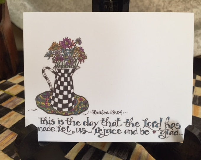 "New*Psalm 118:24 ""This is the day that the Lord has made. Let us rejoice and be glad.."" Cindy Grubb--Style of MacKenzie-Childs-Free Bookmark"
