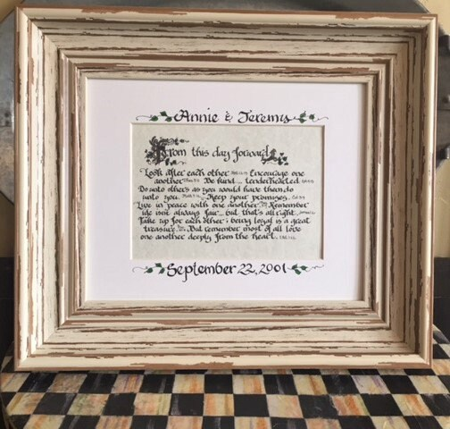 From this day forward- Scripture Quotes, Matted Print, Framed ...