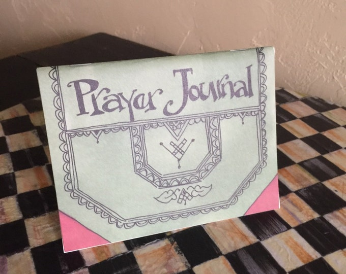 Prayer Journal with *Free Bookmark*  James 5:16-10- For His Glory, Cindy Grubb-Calligraphy, Devotional Gift, Inspirational, Convenient size