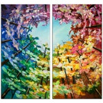 """Original Tree Art painting huge Impasto Texture modern oil painting  Abstract Painting on gallery wrap linen canvas 48"""" x 48"""""""