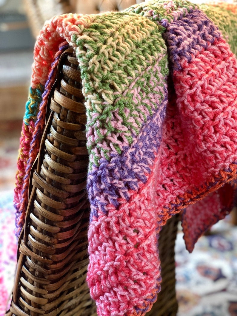 Chunky Crochet Blanket  Crochet Afghan  Crochet Throw image 0