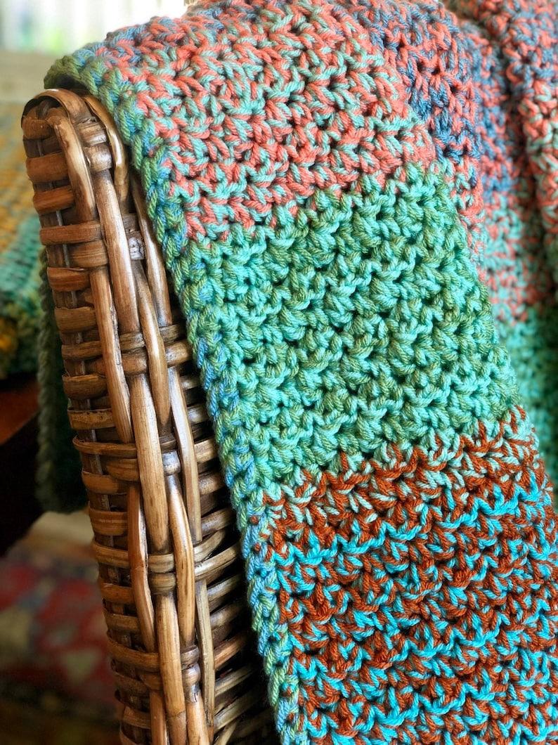 Chunky Crochet Blanket  Crochet Afghan  Crochet Throw image 0