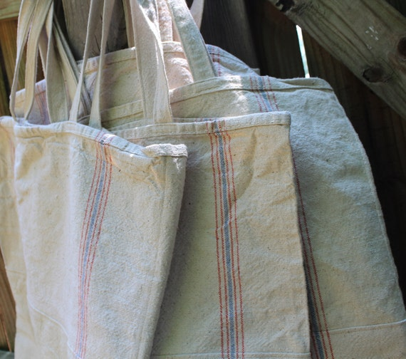 Reusable Shopping Bag Grainsack Market Bag Eco Grocery Bag Heavy Cotton Tote Bag Market Tote Authentic Vintage Sack