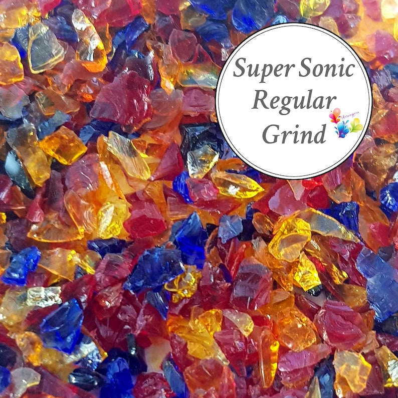 stained glass Red Orange Lampwork Supply purple Fusing Glass Supply Lampwork Frit Blend regular grind blend coe 94-96 SUPER SONIC