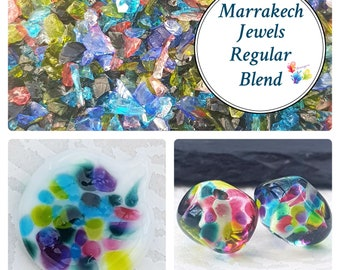 MARRAKECH JEWELS Regular Grind, Lampwork Frit Blend, fine blend coe 94-96, Lampwork Supply, Fusing Supply, rainbow frit, stained glass