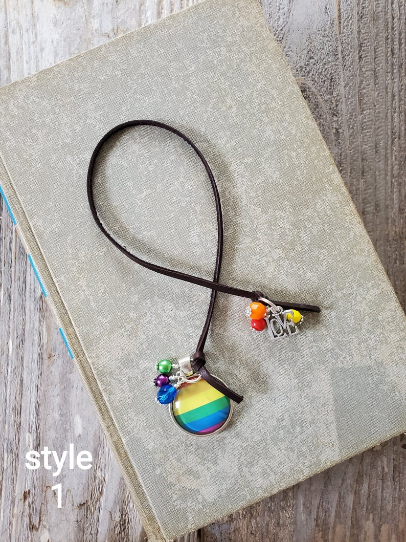 Pride Flag Bookmark LGBT Book Thong Gift for Him Her Gender Style 1