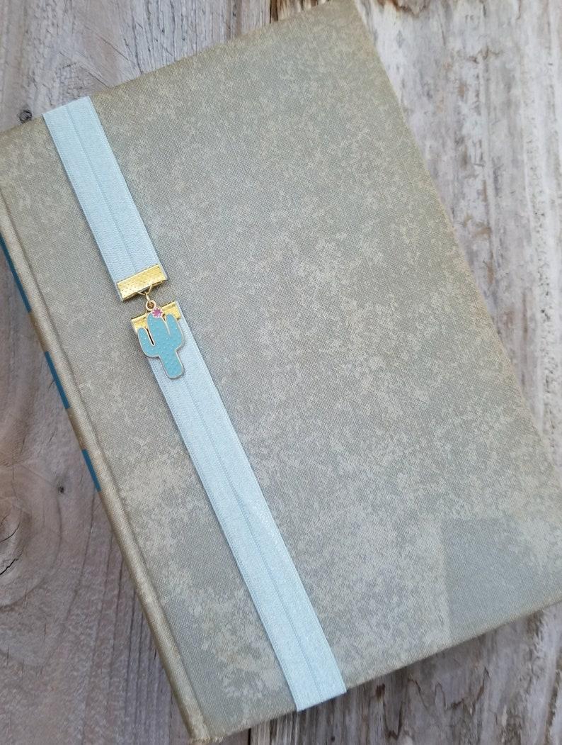Cactus Bookmark Elastic Book Band or Book Thong Planner image 0