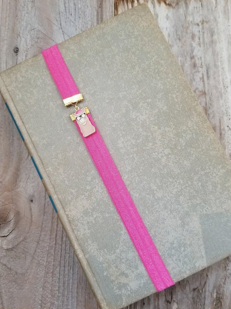 Llama Alpaca Bookmark Elastic Book Band or Book Thong image 0