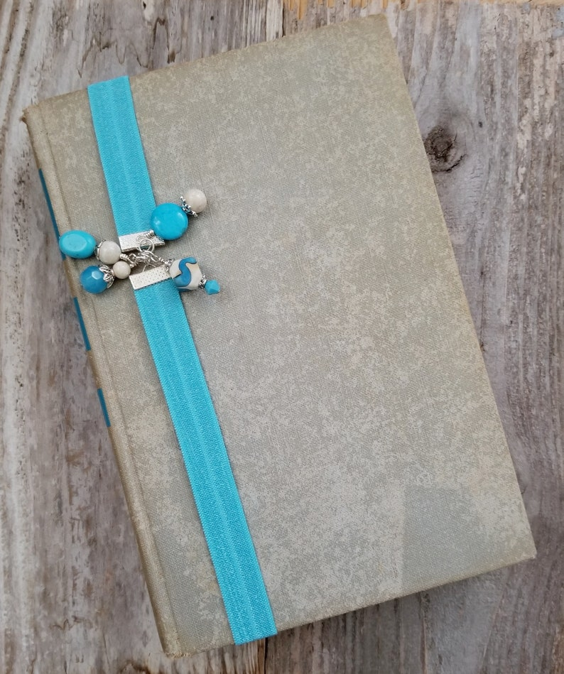Elastic Book Thong Turquoise Stone Bookmark Reader Gift for image 0