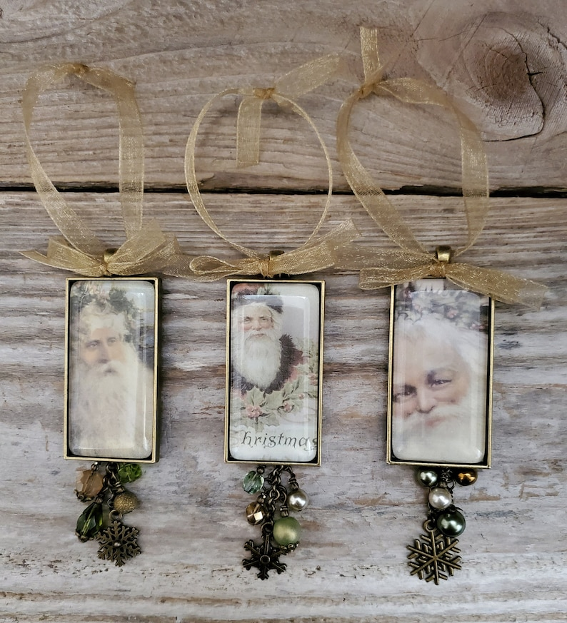 Santa Ornaments Vintage Style Holiday Father Christmas Gift image 0