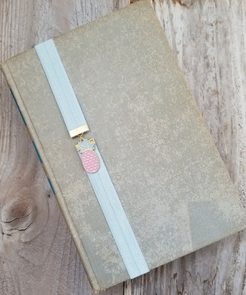 Pineapple Book Band Elastic Bookmark or Book Thong Planner image 0