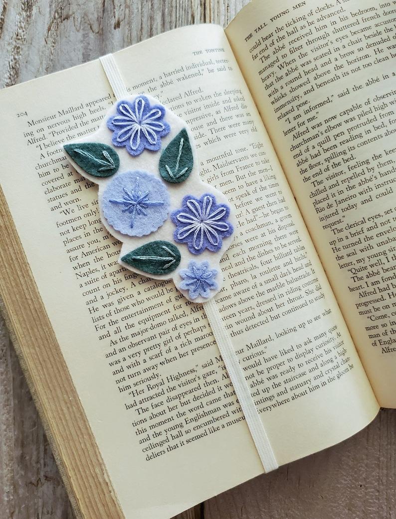 Book Band Planner Band Felt Flower Elastic Bookmark image 0