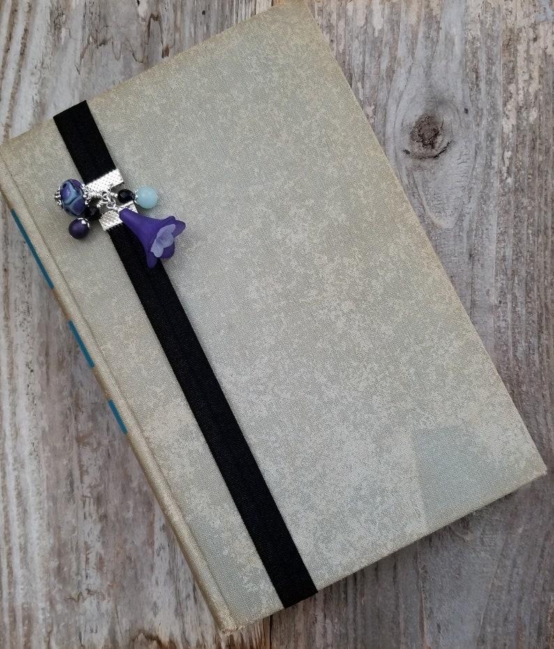Beaded Book Band Book Thong Elastic Bookmarker Bookworm image 0
