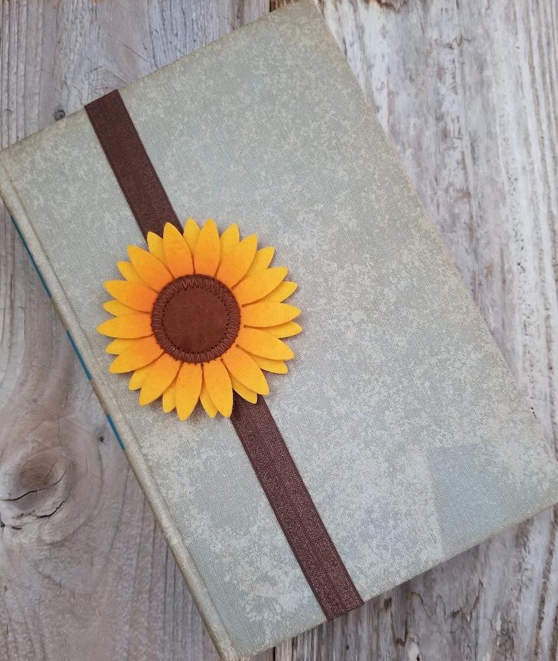 Sunflower Book Band Elastic Bookmark Planner Band Sunflower image 0