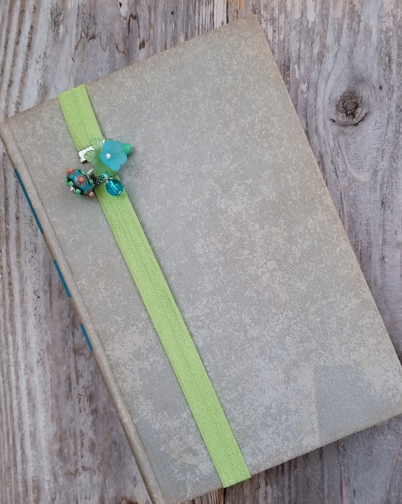 Bookworm Gift Beaded Bookmark Elastic Book Thong Gift for image 0
