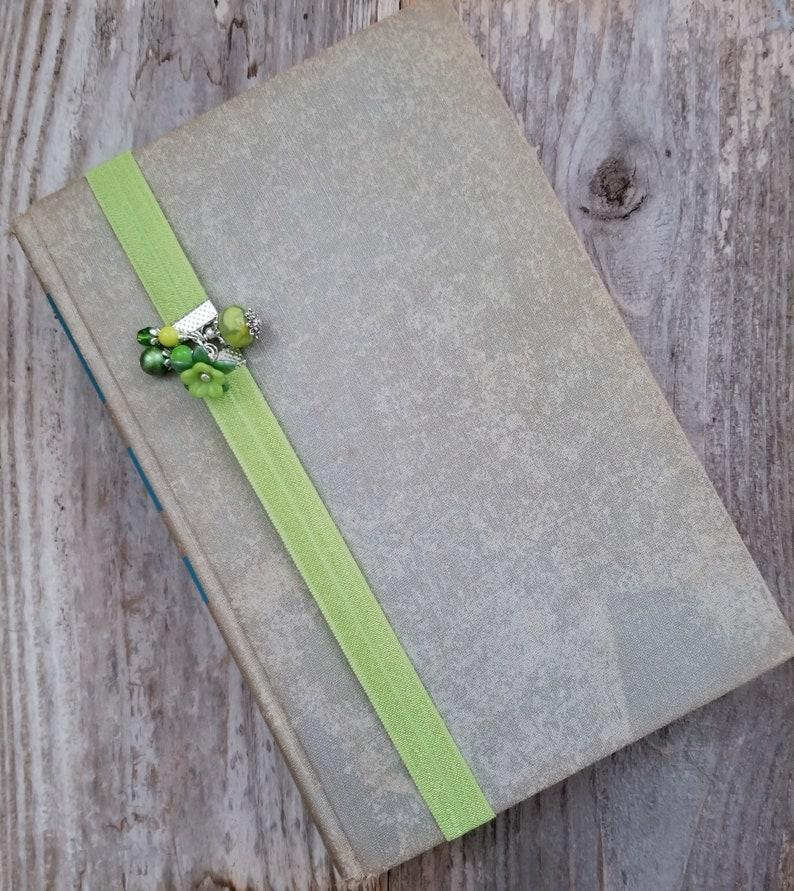 Unique Bookmark Elastic Book Thong Beaded Bookmarker image 0